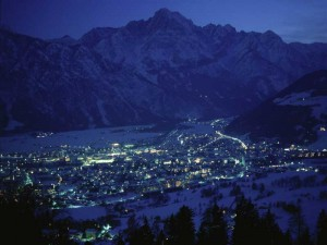 Ausblick auf die Stadt Lienz und die Lienzer Dolomiten